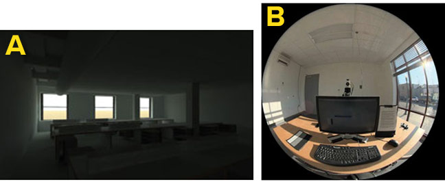 Situations in daylit spaces causing a risk of glare