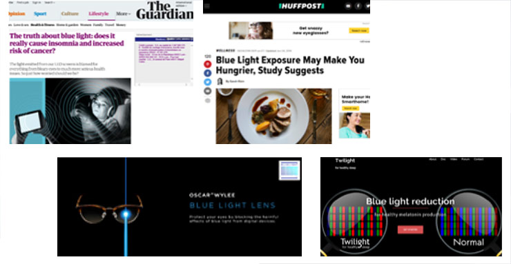 The effects of blue light explored in the media