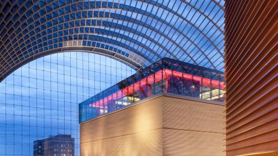 SageGlass Electrochromic Glass Main Windows at Kimmel Center for the Performing Arts, Philadelphia (USA)
