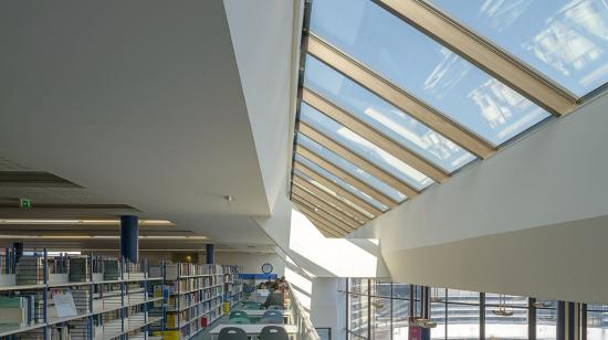 SageGlass Electrochromic Glass clear state at University Library, La Rochelle (France)