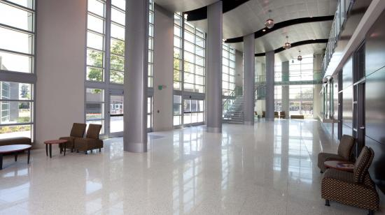 SageGlass Electrochromic Glass interior clear state at Chabot College, Hayward (USA)