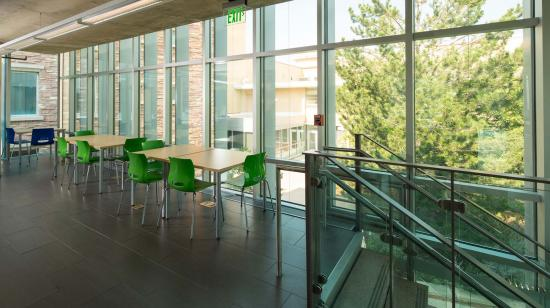 SageGlass Electrochromic Glass clear state at Colorado State University, Fort Collins (USA)