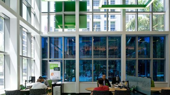 SageGlass Electrochromic Glass at TD Bank Cube, Miami (USA)